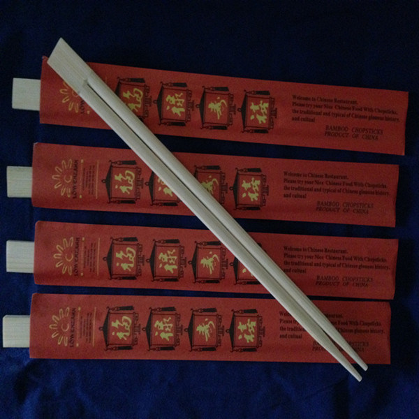 24cm Twin Chopsticks with Opened Paper Cover