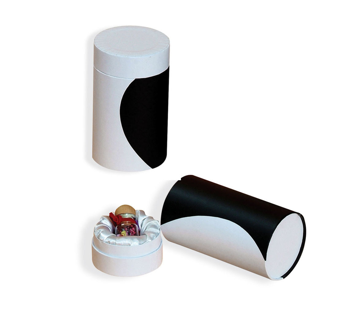 Cylinder Paper Gift Containers for Body Powder