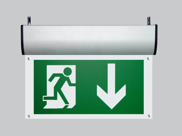 LED Fire Exit Sign with Self-Test