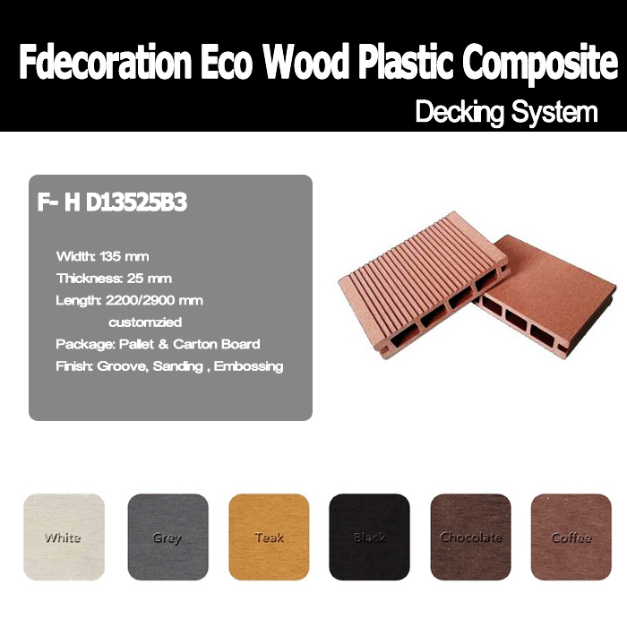 Swimming Pool Decking Composite Wood Material WPC Decking