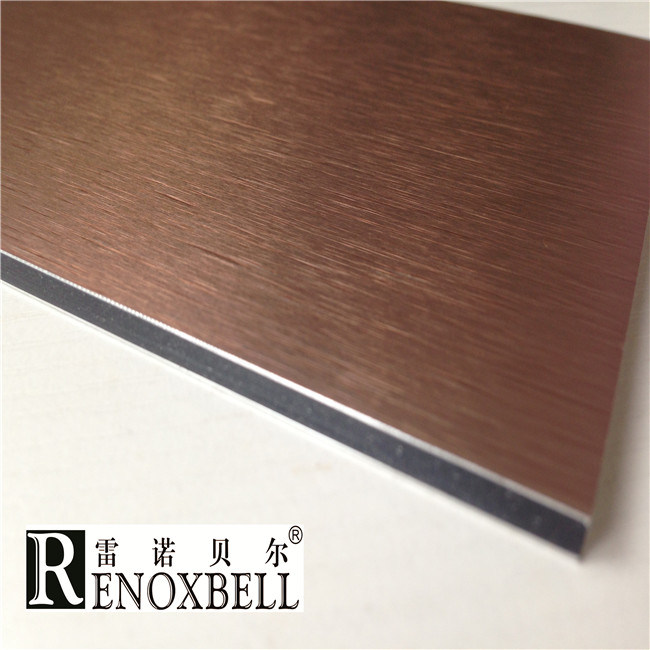Brushed Aluminum Composite Panel : China copper brushed finished acp aluminum composite panel