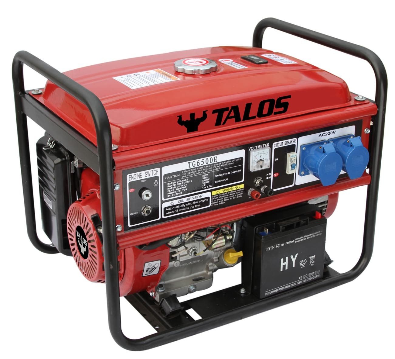 5 Kw Portable Electric Gasoline Generator / 5kVA Power Generator