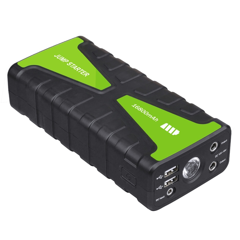 Multifunction Mini Power Bank Booster 12V 16800mAh Jump Start for Car