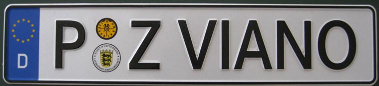 EU Aluminum License Plate (JS00EU)