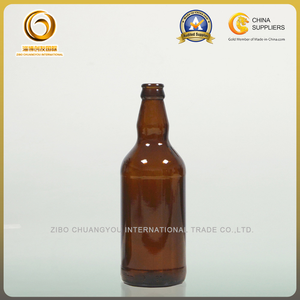 High Quality Brown 500ml Crown Cap Beer Bottles (042)