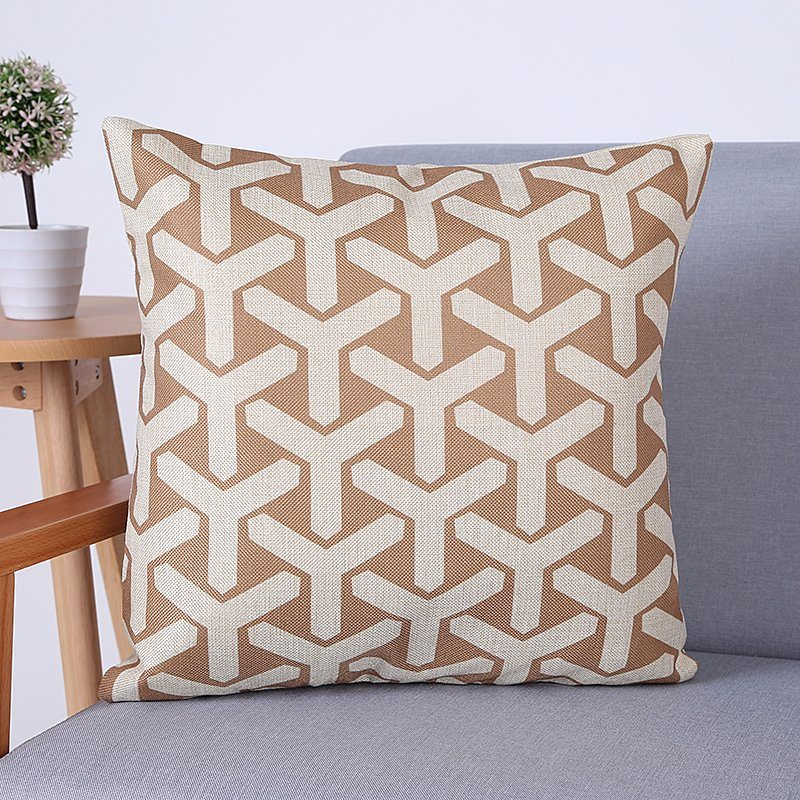 Digital Print Decorative Cushion/Pillow with Geometric Pattern (MX-60)
