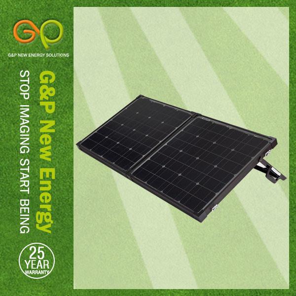 Folding Solar Panel 80W Black (GPM80W-2FB)