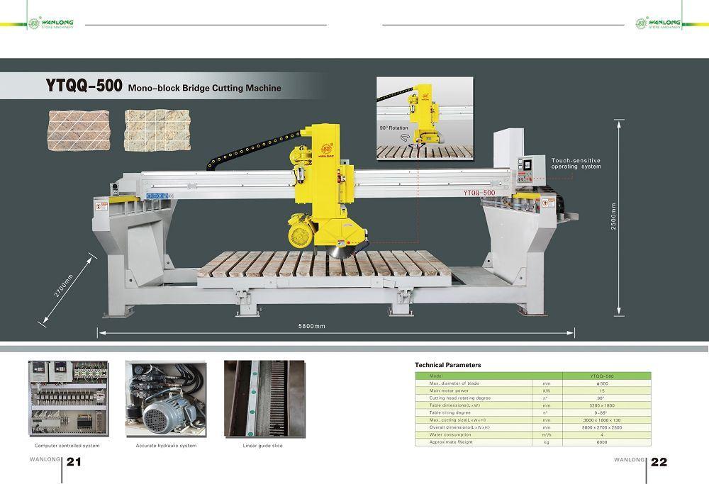 Mono-Block Bridge Cutting Machine (YTQQ 500) -Stone Machine