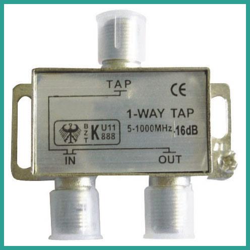 CATV Splitter Satellite Amplifier Splitter 1 Way Tap (5-1000MHz)