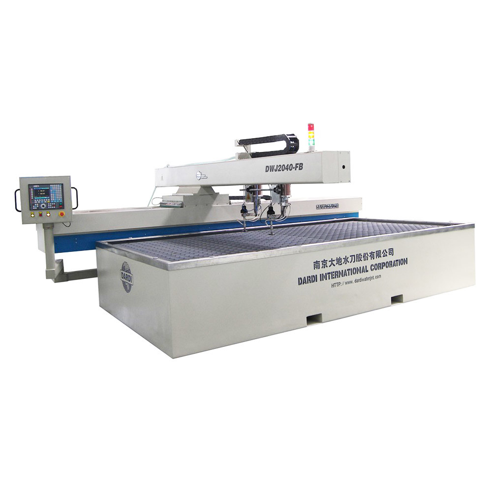 Water Jet Cutting Machine Double Cutting Head CNC Cutting Table (DWJ2040-FB)