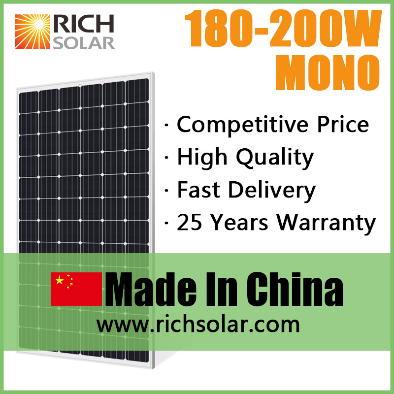 200W Solar Panel Solar Cell Solar Power PV Solar Panels