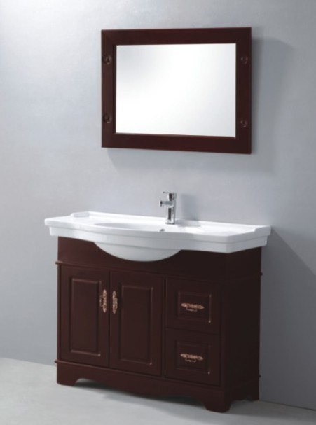 Excellent  Bathroom Vanity In Cherry Baltic Brown Granite Countertop Undermount
