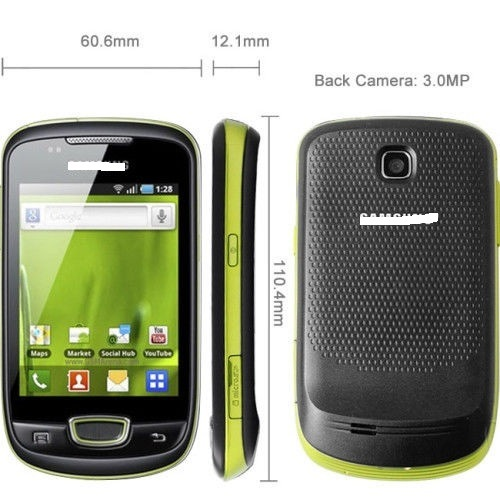 Original Unlocked Mobile Phone Samsong Galaxi Mini S5570 Smartphone 3G WCDMA Gsmgps WiFi Bluetooth Android OS