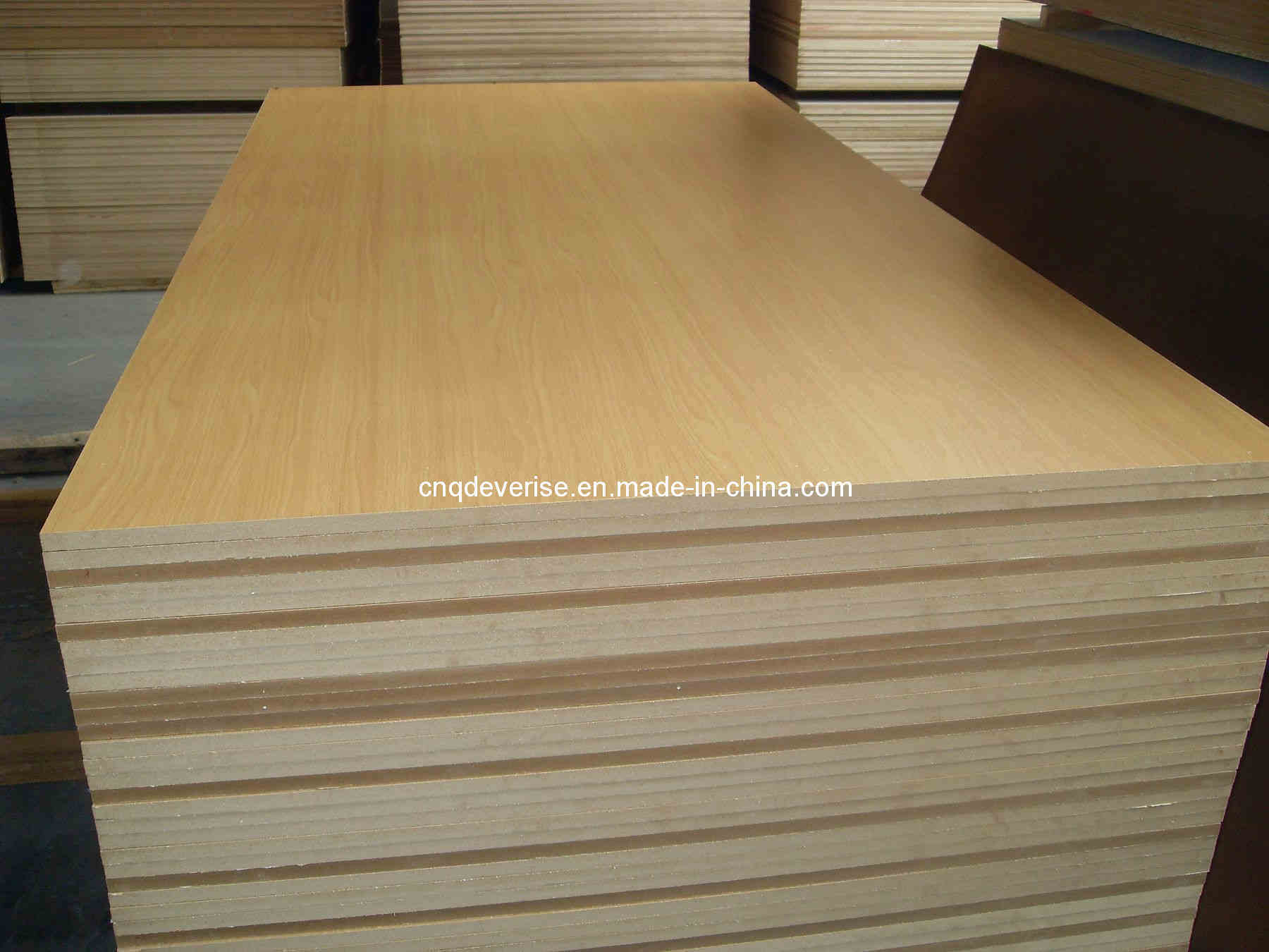 China raw mdf plain memamine wood board