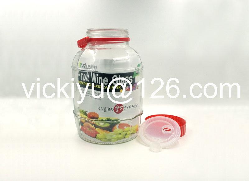 Fruit Wine Glass Bottles, Large Glass Wine Canister 1L~12L