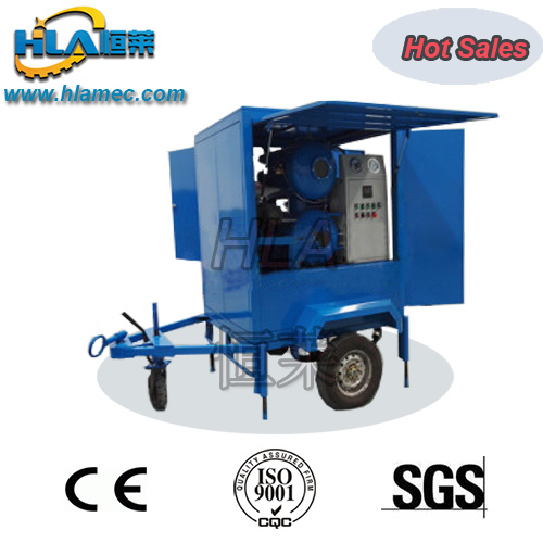 Mobile Trailer High Vacuum Recycling Transformer Oil Purifier
