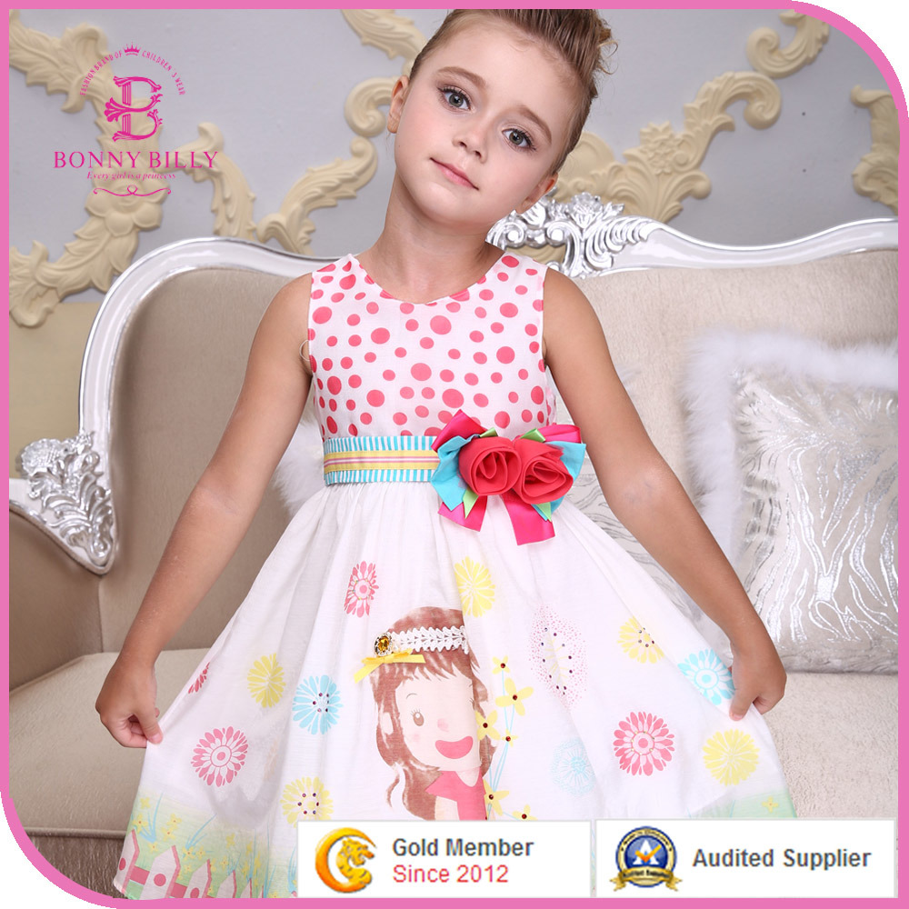China Summer Dresses For Kids Girl Cotton Frocks Designs