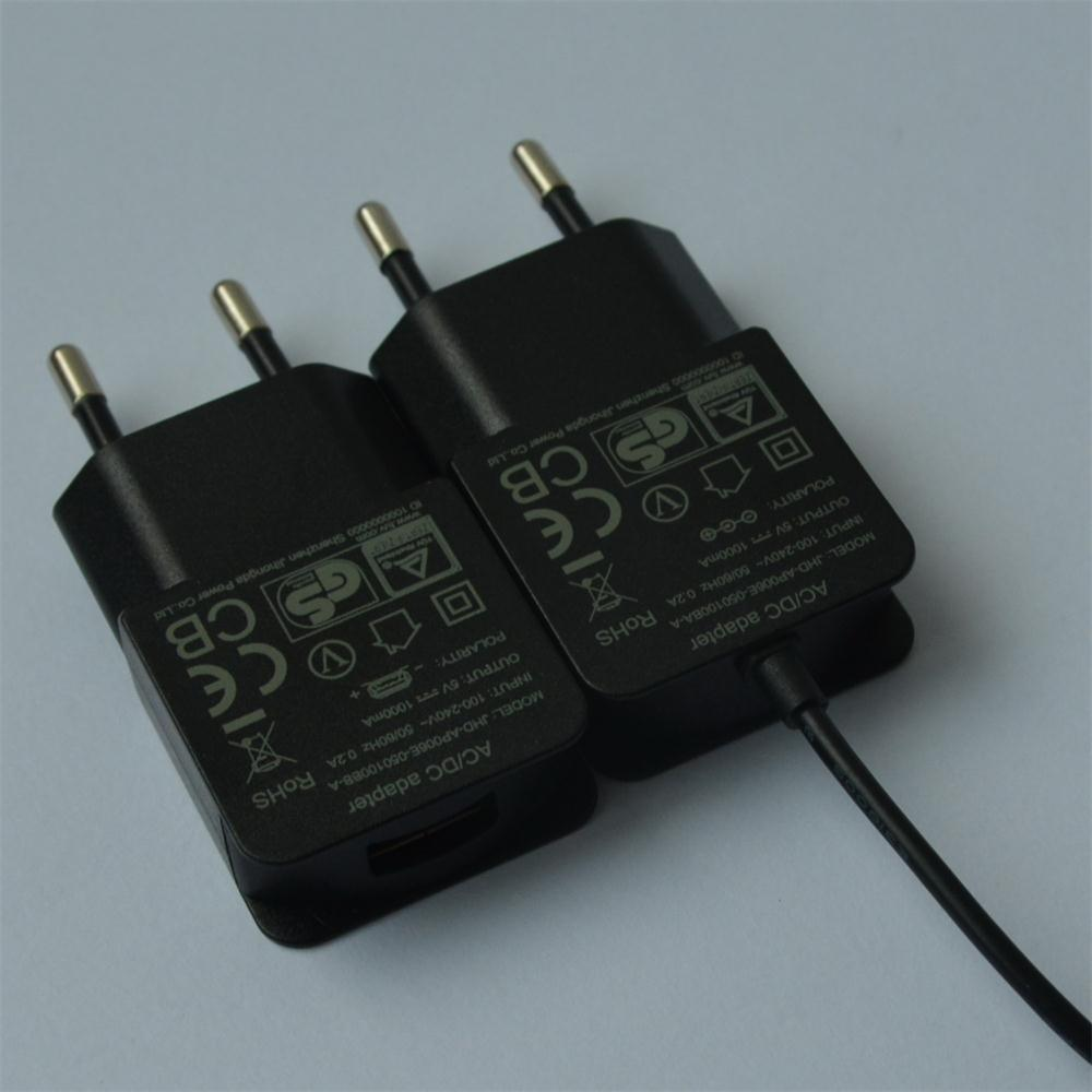 5V1000mA AC/DC EU Plug Power Adapter with CE, GS Certificate