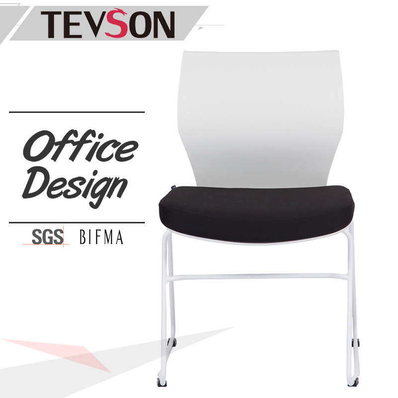 Modern Furniture Stackable Reception Meeting and Training Plastic Chair