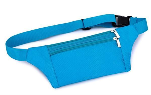 Hot New Products for 2016 Cheapest Waterproof Nylon Blue Waist Bag Running