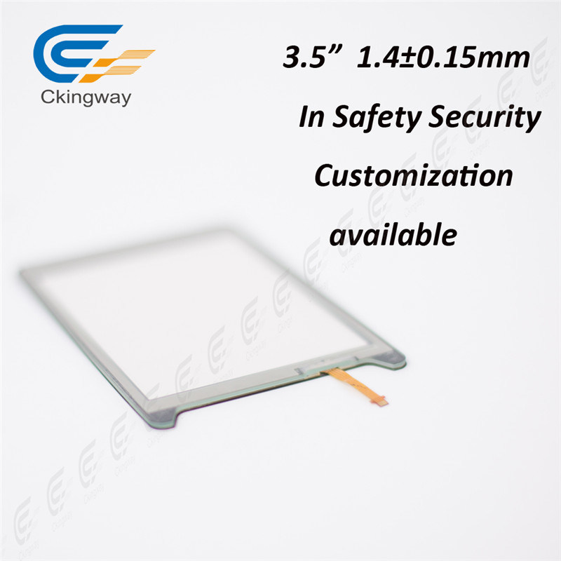 3.5 Inch Analogue Resistive Touch Panel for Security Monitor