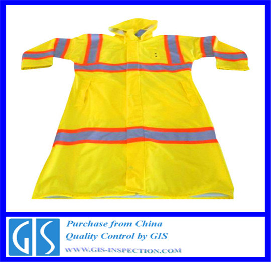 Quality Control Inspection for Rain Coats in China