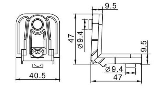 Best Extraordiairy Joint Corner Hl6435 for Aluminum Profile