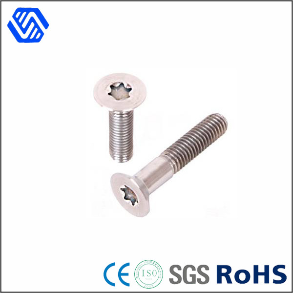Gr2 Gr5 Titanium Bolt Countersunk Head Machine Torx Screw