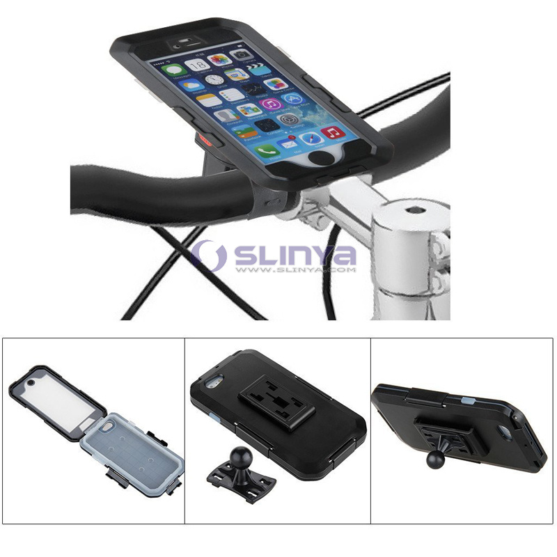 360 Degree Rotating Home Button Operable Handlebar Mobile Phone Bicycle Waterproof Case