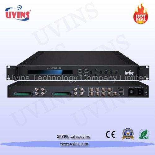 Digital Headend Satellite Receiver/Decoder 4-in-1 DVB-C/T/T2/S/S2 IRD