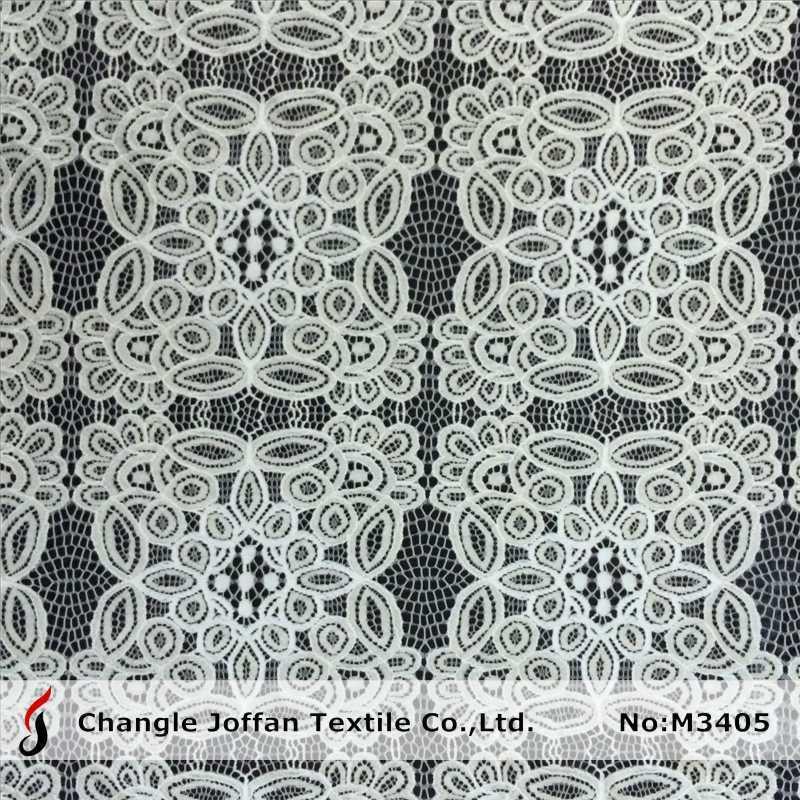 Fancy Cotton Lace Fabric for Garment Accessories (M3405)