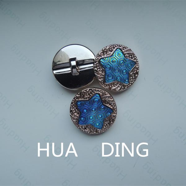 Beautiful Pentagram Pattern Hand Stitch Button for Garment (B1177)