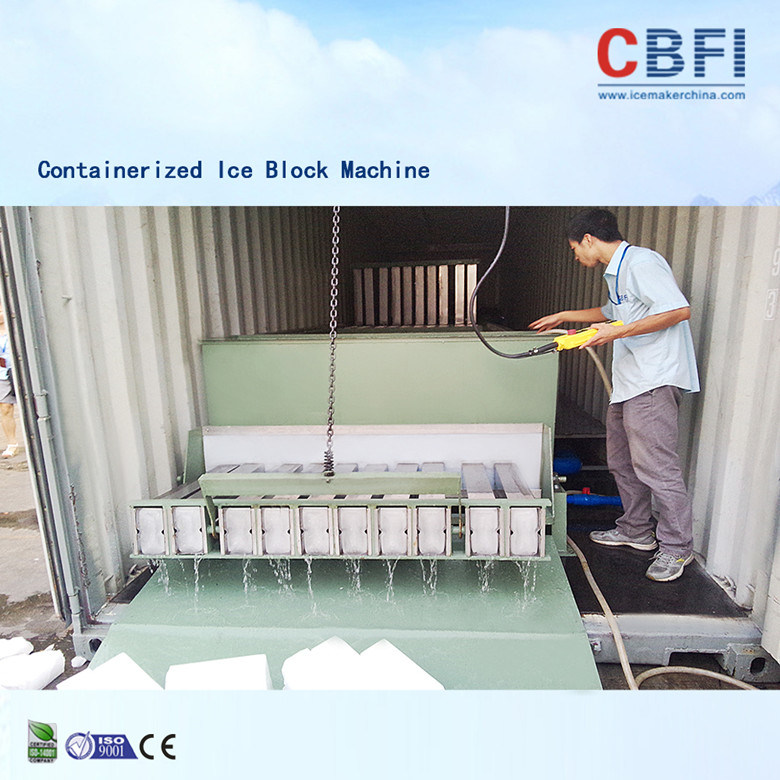 China Manufacturer Industrial Containerized Ice Block Making Machine (MBC100)