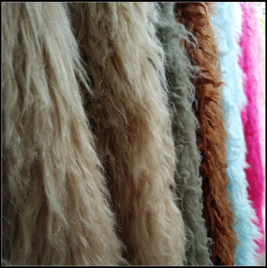 Faux Fur Fabric - Coral Fleece