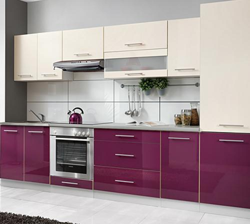 2017 New Modern Glossy Wood Kitchen Cabinet Furniture (ZHUV)