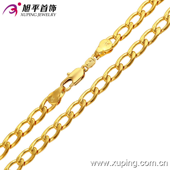 Fashion Male 24k Gold Plating Necklace Jewelry (42380)