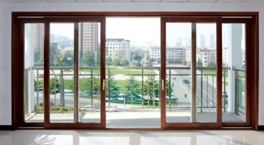 china soundproof double glass aluminum sliding balcony