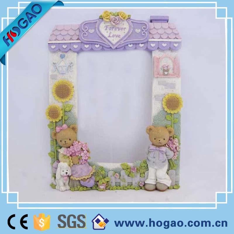 Resin Teddy Bear Rabbit Baby or Nursery Photo Frame Lovely
