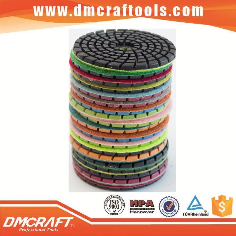 Hook & Loop Diamond Flexible Resin Dry Polishing Pads