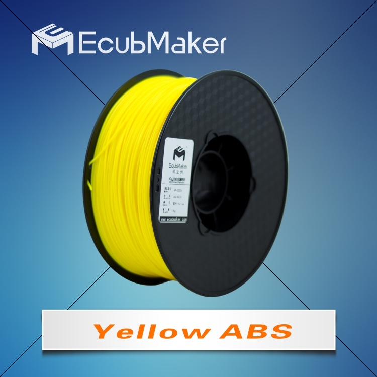 1.75mm ABS Filament for 3D Printer Yellow Color