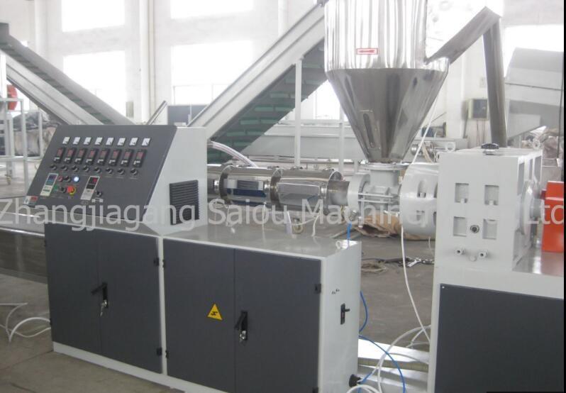 HDPE Bottle Flakes Recycle Waste Plastic Pelletizing Machine