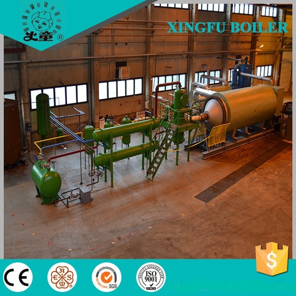 Batch Type Used Tyre, Rubber, Plastic Pyrolysis Equipment