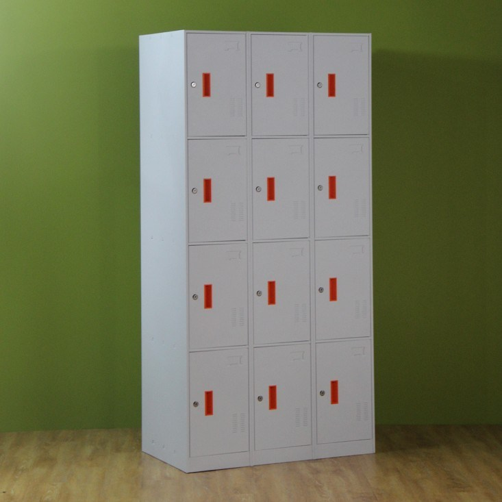 12 Compartment Steel Locker for Storage Bags and Clothes