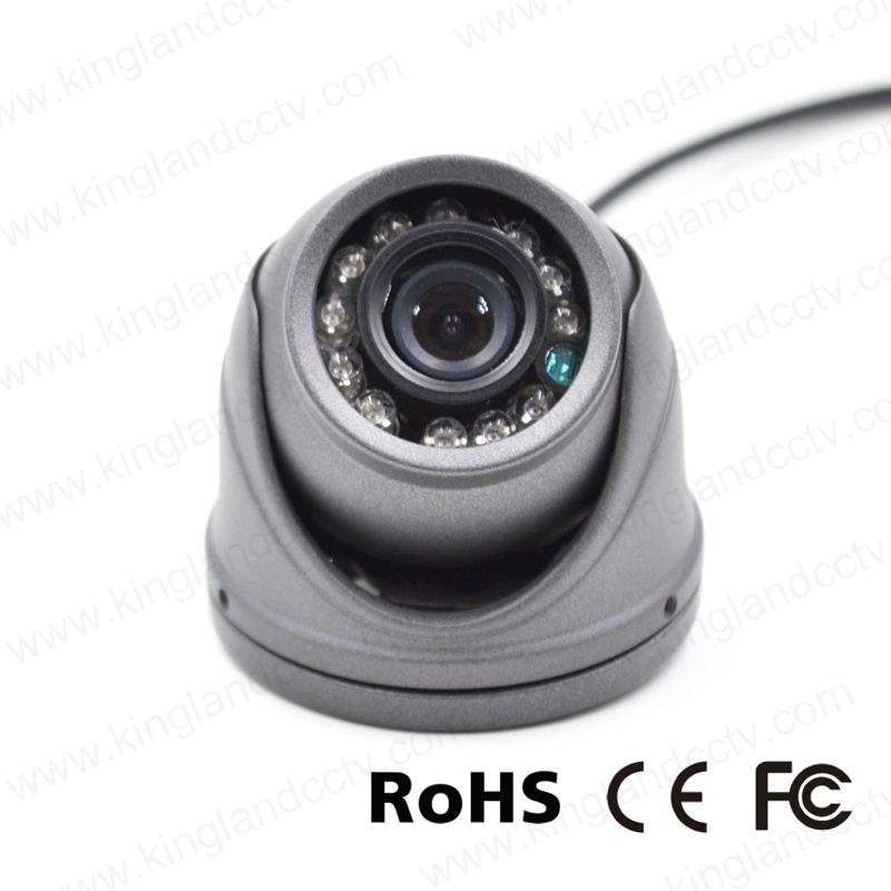 Vandalproof Aluminum Mini Dome Camera for Vehicle