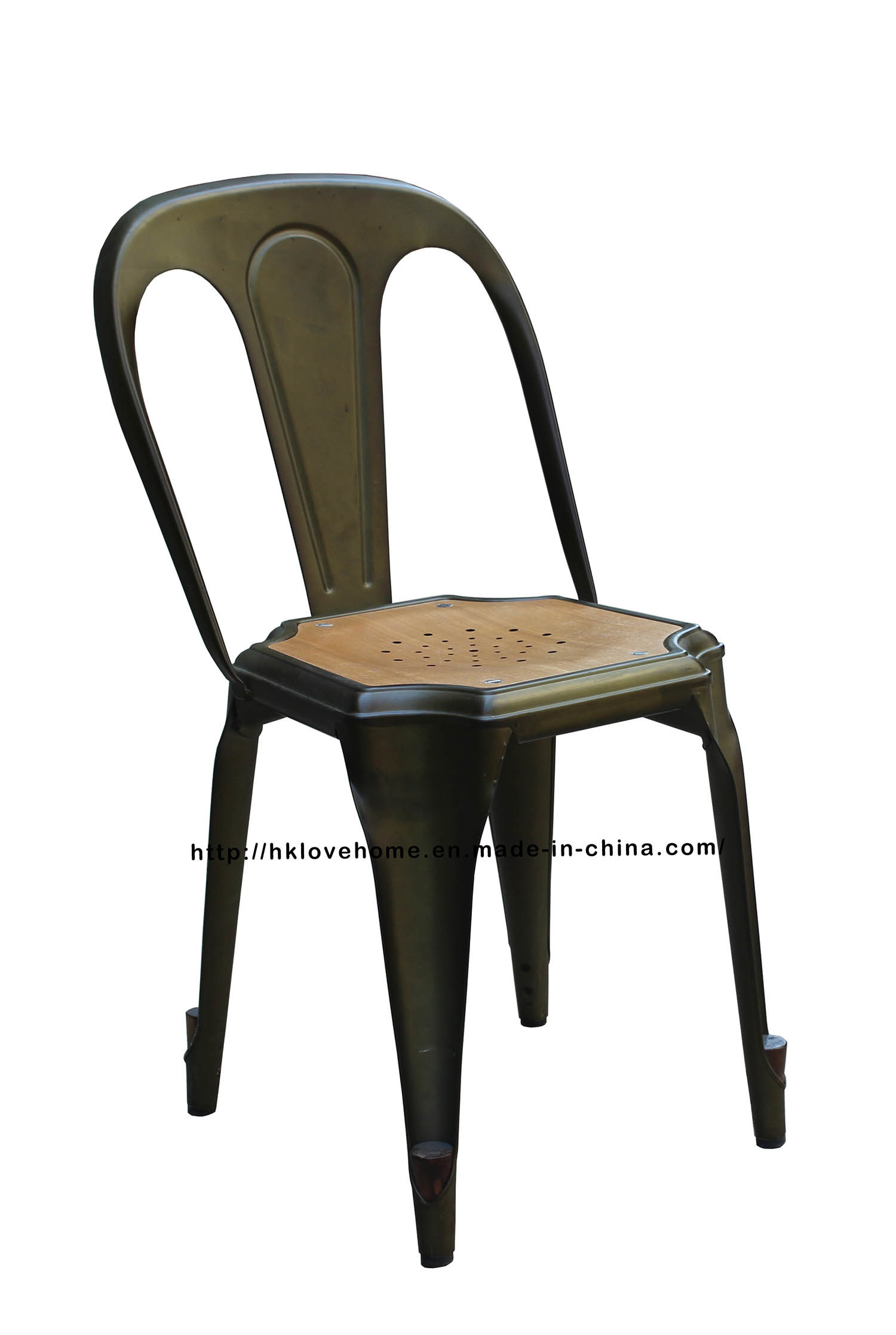 Industrial Tolix Vintage Armand Metal Dining Restaurant Coffee Chair