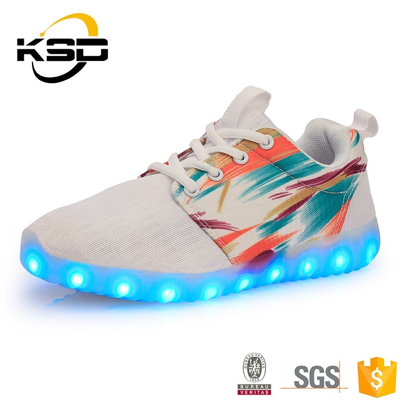 2016 New USB LED Light Luminous Shoes Sneaker LED Shoe Light