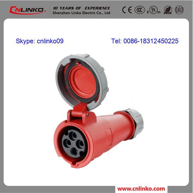 32A/3p+E/6h/380~415V/IP44 IEC60309 Industrial Connector