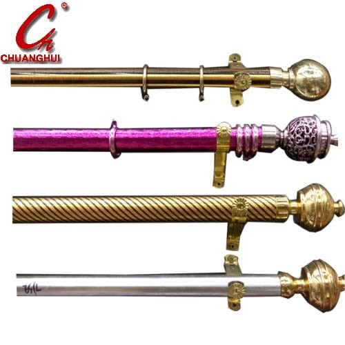 Furniture Hardware Curtain Iron Rod Cap Support Ring Accessries Set