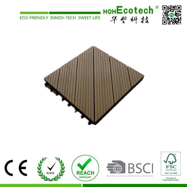2015 Hot Sales Outdoor Plastic Wood Tile / WPC DIY Tiles