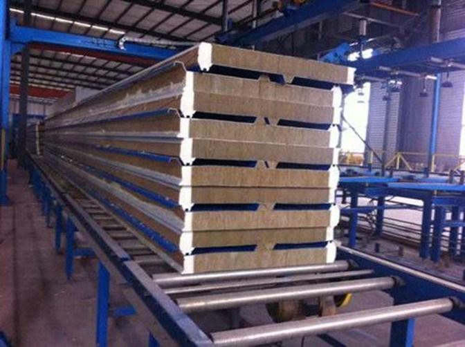 Fire Resistant Rockwool Mineral Wool Sandwich Panel